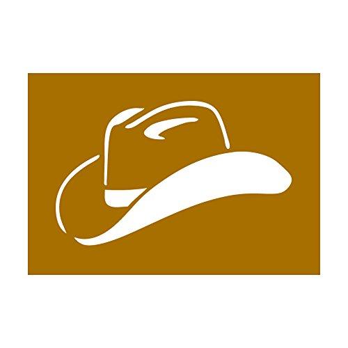 Auto Vynamics - Stencil-Cowboy-HAT - Cowboy/Cowgirl Hat Individual Stencil from Detailed Cowboy & Cowgirl/Wild West Stencil Sets! - 10-by-7-inch Sheet - Single Design