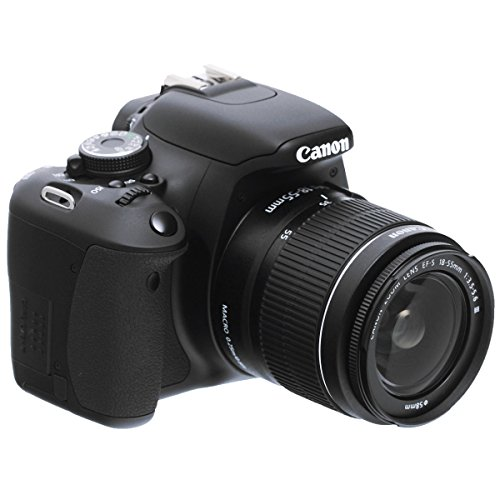 Canon EOS 600D SLR-Digitalkamera (18 Megapixel, 7,6 cm (3 Zoll) schwenkbares Display, Full HD) Kit inkl. EF-S 18-55mm 1:3,5-5,6 IS II
