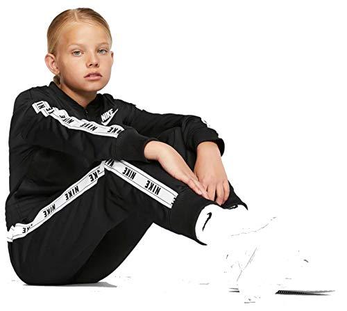 Nike Mädchen G NSW TRK Suit Tricot Tracksuit, Black/White, XS