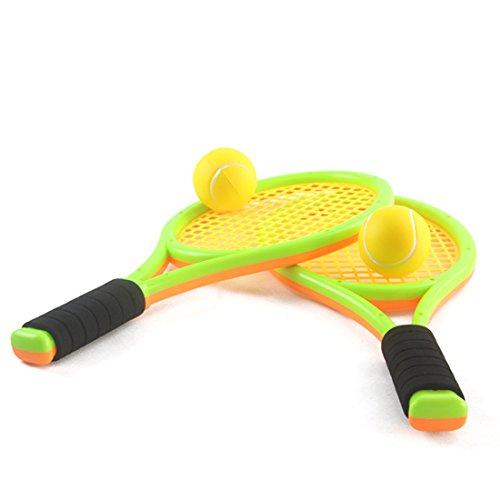 Lingxuinfo Kids Tennis Rackets Tennis Racquet Play Game Beach Toys Badminton Set for Kids with 2 Rackets