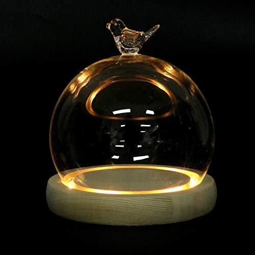 campana cristal base madera de la marca IMIKEYA