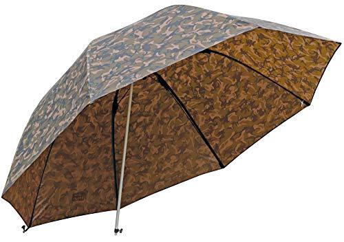 Fox Camo Brolly 60\' - Angelschirm zum Ansitzangeln auf Karpfen, Forellen & Friedfische, Schirm zum Karpfenangeln, Anglerschirm