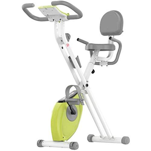 WJFXJQ Spin Bike Ejercicio Bicicleta Interior Ultra Silent Magnetic Belt Drive Cardio Workout Machine Vertical Bike Home Gym 220 lbs MAX Peso