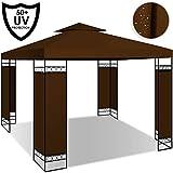 Kesser - Pavillon 3x3m wasserabweisend UV-Schutz 50+ Metall Gestell Partyzelt Gartenzelt Gartenpavillon 9m² Festzelt, Braun
