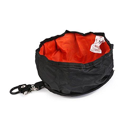 WINOMO Gamelle pour chien - Pliable - Noir