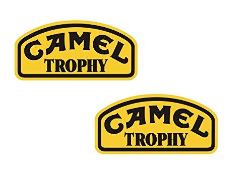 #229 / 2x Camel Trophy Aufkleber je ca. 10x5cm Offroad SUV Geländewagen Landrover etc Jeep Lada