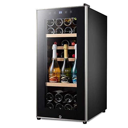 CHENMAO Silencio termoeléctrica enfriador de vino Frigorífico, Chiller, independiente botella en posición vertical de almacenamiento del refrigerador de vino, Touch Control de Temperatura puerta de cr