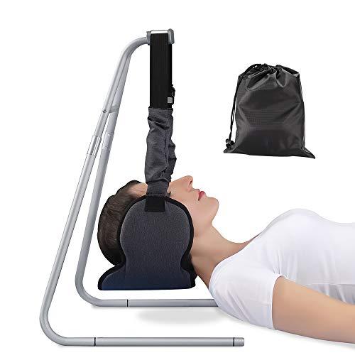 Hamac de Cou, Traction Cervicale avec Support Amovible Sangle Réglable Ressorts Intégrés Hamac de Relaxation Cervicale pour Soulager Douleur de Cou d'Epaule et Mal de tête