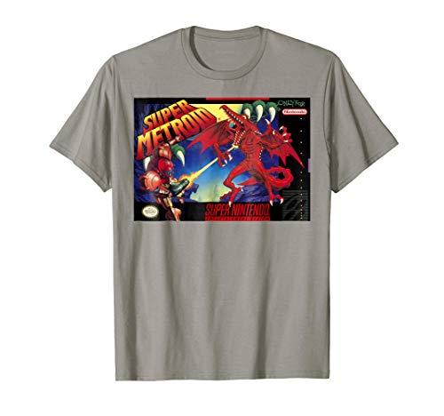 Nintendo Super Metroid Classic Box Art Graphic T-Shirt