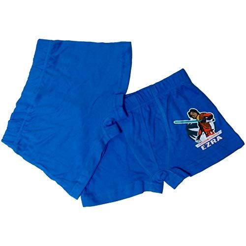 Star Wars 2er Kinder Boxer-Shorts Unterhose Jungen Boxershorts Öko Tex (110/116)