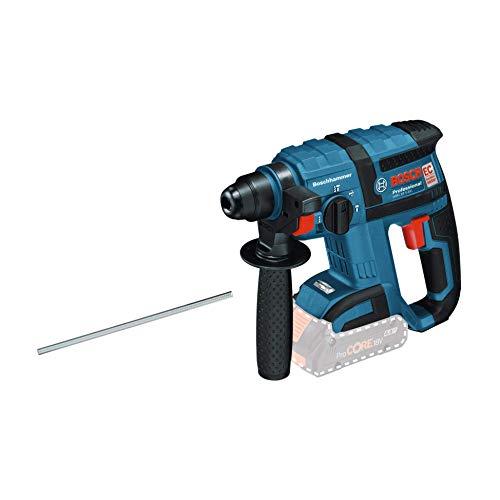 Bosch Professional GBH 18 V-EC Martillo perforador combinado, 1,7 J, diámetro máximo hormigón 18 mm, SDS plus, sin batería, en caja, 18.72 W, Negro/Azul