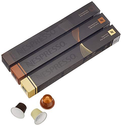 Nespresso Kapseln - Vanille Kakao Karamell Sortiment 30 Kapseln - 3 Sorten, 200 g, E-Nespr-VaniKakaoCarm-A-30Stk-1-Ven