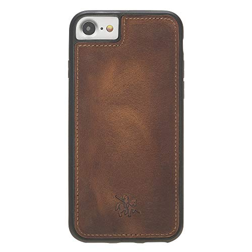 Venito Lucca Leather Case Compatible with iPhone SE 2020 iPhone 8 and iPhone 7 – Disinfected with a UV Sanitizer – Extra Secure with Padded Back Cover (Antique Brown)