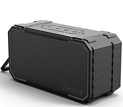 neocore WAVE A1 Portable Wireless Bluetooth Speaker, 24+ Hour Playtime,SD Card Support, Stereo Dual-Driver, 10W, 20m/66ft Range Subwoofer Enhanced Bass, Waterproof (Black) by neocore