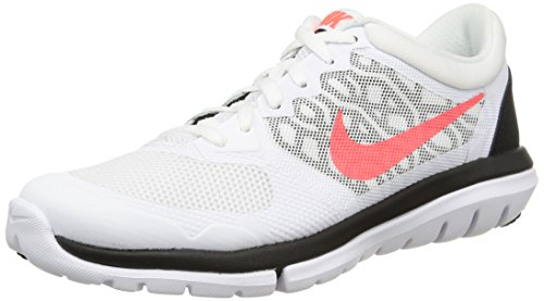 Nike Wmns Flex 2015 Rn - Zapatillas para mujer, White/Hot Lava-Black, 36.5