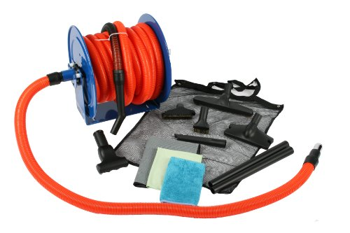 Best Review Of Cen-Tec Systems 99680 50-Feet Premium Garage Vacuum Kit with Hose Reel