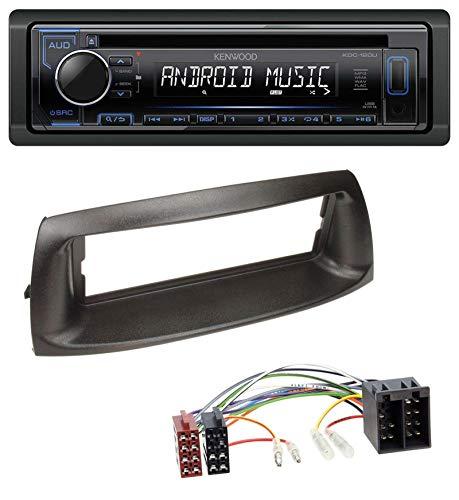 caraudio24 Kenwood KDC-110UB 1DIN MP3 USB CD AUX Autoradio für FIAT Punto (188, 1999-2005)