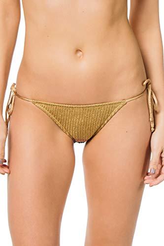 Tooshie Women's Goa Tie Side Brazilian Bikini Bottom Multi 40