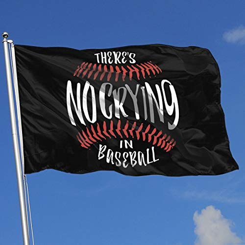 JQDAPaflag NO Crying in Baseball Breeze Flag 3 X 5-100% Polyester Single Layer Translucent Flags 90 X 150CM - Banner 3