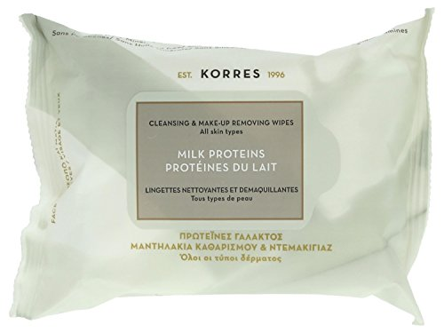 Korres MILK PROTEINS Cleansing & Make Up Removal Wipes