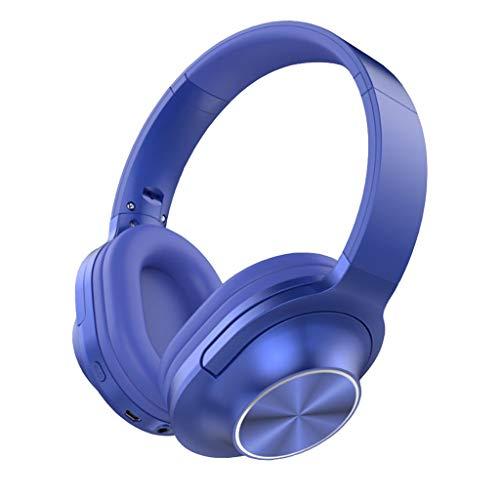 Lecc Auriculares inalámbricos con Bluetooth, micrófono Plegable en la Oreja, Auriculares estéreo portátiles con reducción de Ruido, para tabletas, PC, Smart TV, Mp3,B