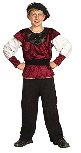 Bristol Novelty CC542 Costume de Prince de la Renaissance, Taille, Multicolore, Grand
