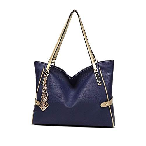 JJZXT Spring and Summer Tide Bag Retro Simple Female Bag Big Bag Bucket...