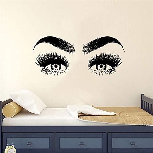 mlpnko Ojos Pegatinas de Pared para dormitorios Decoración del hogar Mural extraíble Decoración DIY, 43x99cm