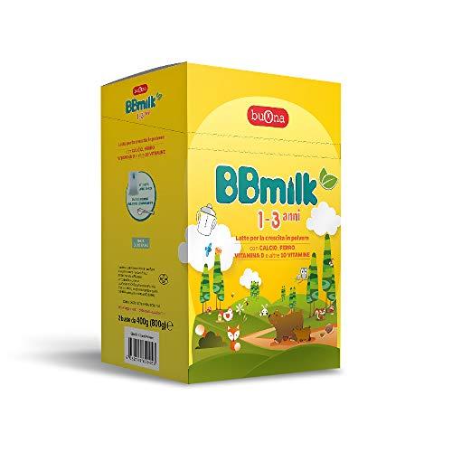 BBmilk 1-3 anni polvere - Latte di crescita in polvere - Formulato per bambini da 1 a 3 anni di età - 800 g