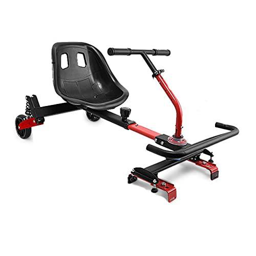 Asiento Hoverkart ajustable de Go Kart para scooter eléctrico inteligente, apto para patineta aerodinámica de 6.5 8 10 pulgadas Go Kart, soporte universal de equilibrio para automóvil modificado par