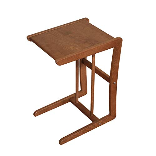 Tables FEI - Bureau d'ordinateur Basse Mobile d'appoint en Bois Massif Salon Chambre Support de Rangement de Chevet pour Tous Les postes de Travail (Couleur : A)