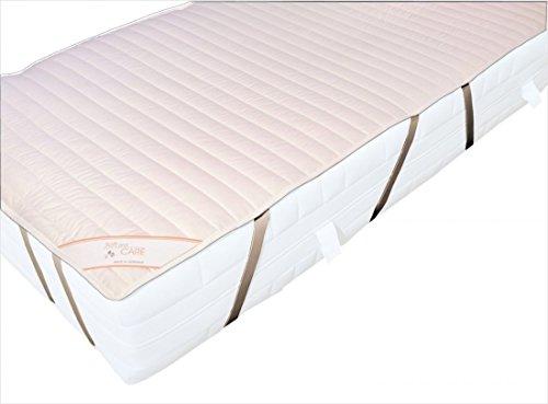 Garanta Matratzenauflage 90 x 200 Auflage Soft and Care aus 100% Baumwolle - Extra leicht 225g/m² - Mit 8 Spanngummis für sicheren Halt - Geeignet für Motorrahmen - Trocknergeeignet