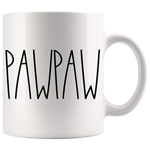 Pawpaw Mug | Pawpaw Rae Dunn Style Coffee Cup | Rae Dunn Inspired | Mother's Day/Father's Day | Family Coffee Mug For Birthday Present For The Best Pawpaw Ever Coffee Cup 11oz