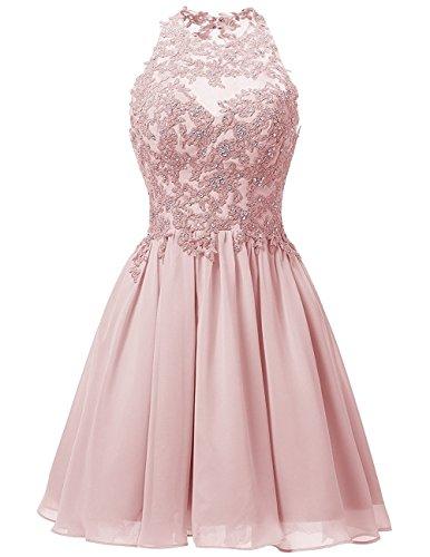Cdress Women's Short Homecoming Dress Prom Cocktail Dress 0 Blush