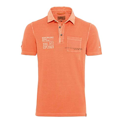 camel active Herren Poloshirt 1/2 Arm orange - 3XL