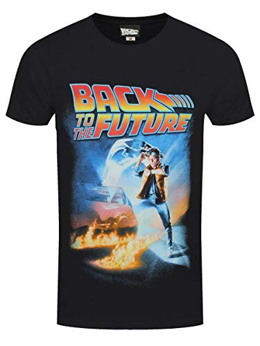 Terminal Back To The Future: Poster Black (T-Shirt Unisex Tg. XL) Merchandising