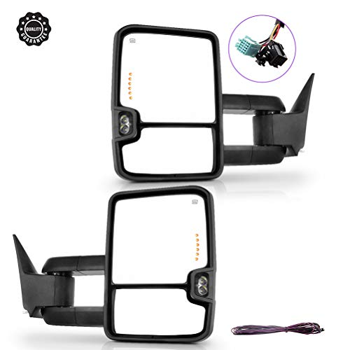 Ineedup Tow Mirrors Rearview Mirrors Fit for 2003-2006 Chevy GMC Sierra Pickup Yukon Yukon XL Yukon Denali Cadillac Escalade All Model with Left Right Side Power Operation Heated