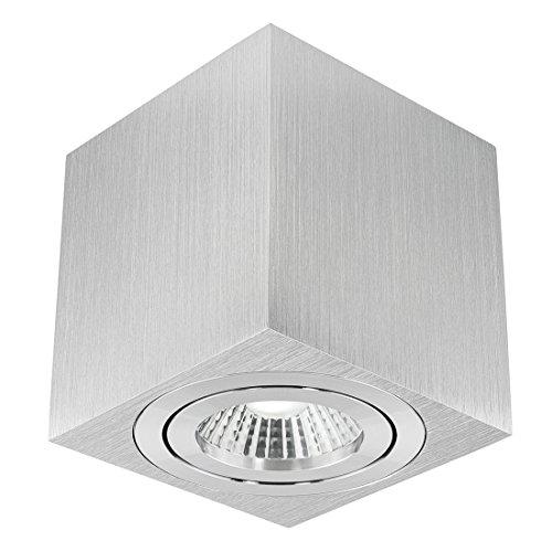 LED Aufbau Deckenspot DUCE aus Aluminium - Spotlampe schwenkbar inkl. LED 10W warmweiß (2100-2700K) dimmbar mit Dim-to-Warm