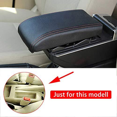 Qiaodi Auto Armlehne Für V olkswagen Bora Golf 4 Mittelarmlehne mittelkonsole Zubehör (Luxus-Stil: Kann angehoben und verdickt Werden) Schwarz