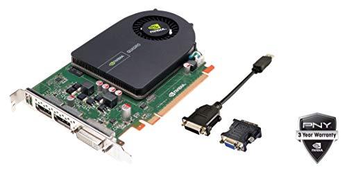 PNY NVIDIA Quadro 2000 Grafikkarte (1 GB, GDDR5, PCI Express Gen 2 x16 DVI-I DL und Dual DisplayPort OpenGL, Direct X, CUDA und OpenCL Profesional VCQ2000-PB (zertifiziert generalüberarbeitet)