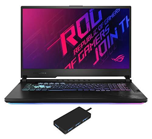 ASUS ROG Strix G17 G712LW Gaming and Entertainment Laptop (Intel i7-10750H 6-Core, 64GB RAM, 2TB PCIe SSD, NVIDIA RTX 2070, 17.3' Full HD (1920x1080), WiFi, Bluetooth, Win 10 Pro) with USB Hub