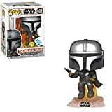 Funko Pop! Star Wars The Mandalorian with Blaster Flying Glow in The Dark Inside Club Exclusive...
