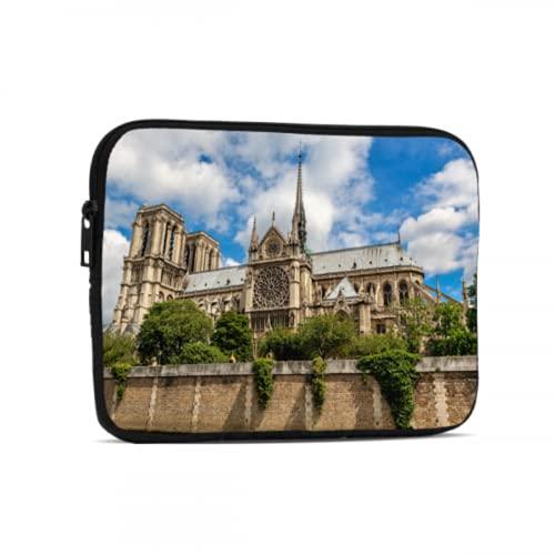 Estuche Impermeable Hermosa Notre Dame De Paris iPad Pro Bag Compatible con iPad 7.9/9.7 Inch Bolsa Protectora de Tableta de Neopreno a Prueba de Golpes con Cremallera y asa