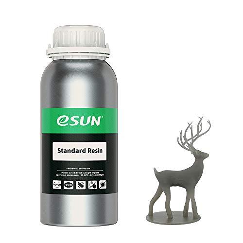 eSUN LCD UV 405nm Resina Standard per Stampante 3D Resina Fotopolimerizzante UV Resina Fotopolimerica Rapida per Stampa 3D LCD, 500g Grigio