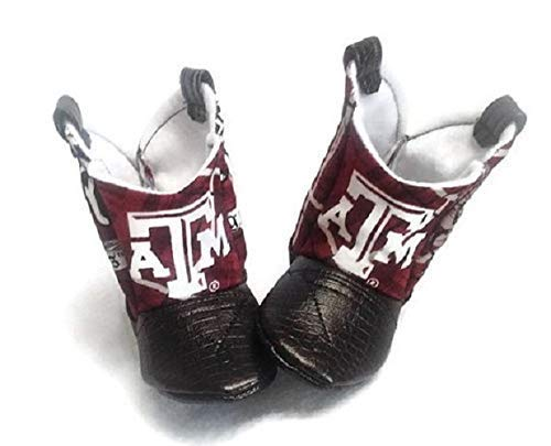 Texas A&M Baby Cowboy Boots with Leather