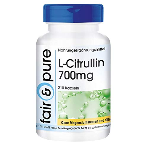 L-Citrullina 700mg - Polvere in capsule - Vegan - 210...