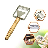 Xisheep Kitchen Knives, Accessories, Stainless Steel Bee Box Open Lid Honey Fork Spatula Shovel Beekeeping Tools, for Home, Garden, Furniture, Silver