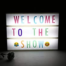 SNOWBIRD® A4 DIY Cinema Light Box with 96 Colorful Letters Numbers Message Combination/Cinematic Light Box Home Decor (1 pcs,)