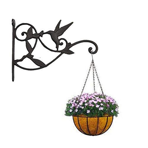 LCZ Blumenhaken Metall Wandhaken Regalwinkel,Blumenampel Haken Halterung Laternenhaken Orientalisch Wandhalterung Für Hanging Basket Landhaus Garten,Schwarz