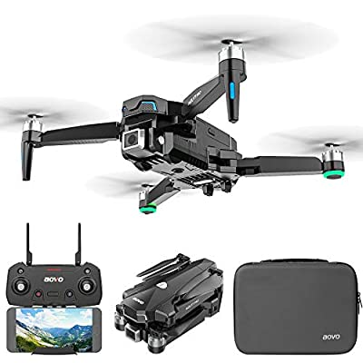 aovo GPS Drone with 4K Camera for Adults Beginners, Brushless Motor,30 mins Flight Time